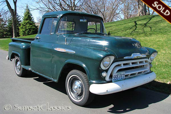 Very Original Chevy truck with a nice patina, working gauges, and even ...