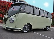 1958 Palm Green/Sand Green VW Bus