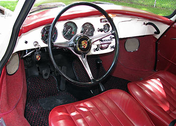 1964 Porsche 356 Sc For Sale White W Red Leather Porsche 356