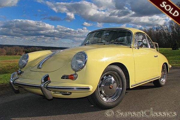 1965 Porsche 356 C for Sale: Black Plate California Porsche