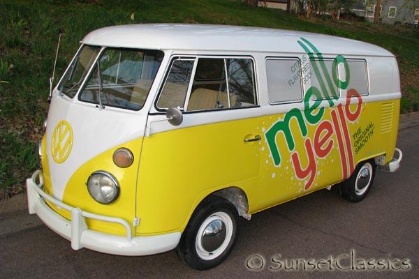 Mello Yello Promo 1966 Bench Seat Vw Bus For Sale