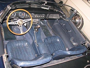 1967 Jaguar XKE E Type Roadster Interior
