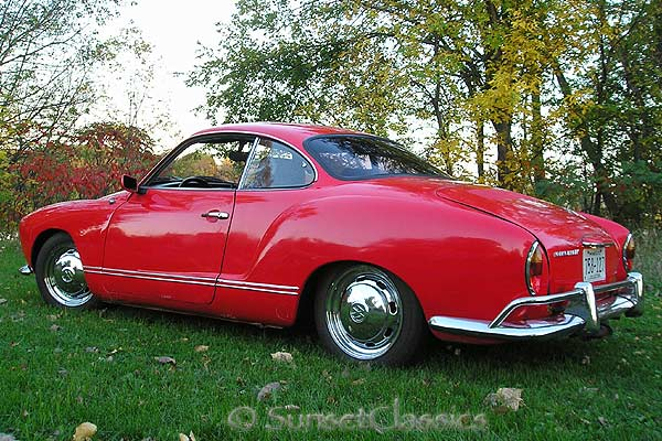 classy red 1968 vw karmann ghia for sale. Black Bedroom Furniture Sets. Home Design Ideas