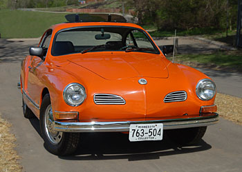 Vibrant Orange 1970 Karmann Ghia for Sale