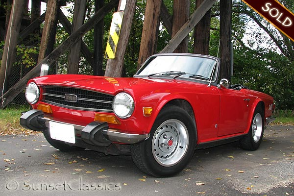 Beautiful Red 1974 Triumph Tr6 For Sale
