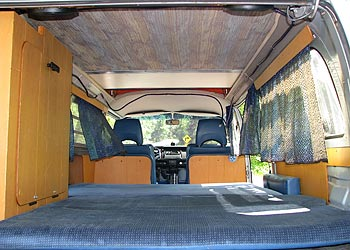 1974 VW Bus Pop-Top Camper Interior