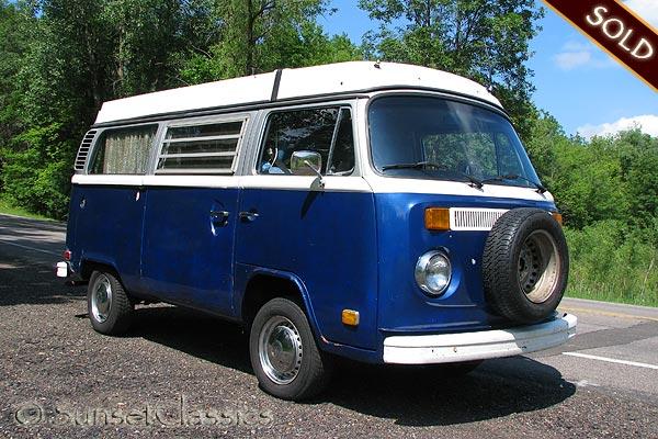 1974 vw bus pop top camper for sale. Black Bedroom Furniture Sets. Home Design Ideas