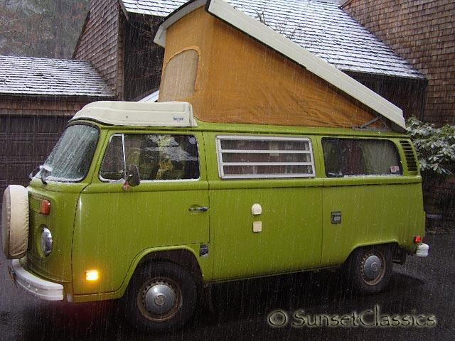 1976 vw westfalia pop top camper bus for sale. Black Bedroom Furniture Sets. Home Design Ideas