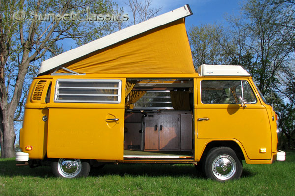 1976 Vw Camper Bus For Sale Pop Top Westfalia Camper