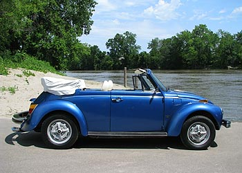 1978 Vw Bug Convertible For Sale Nice Blue White Combo