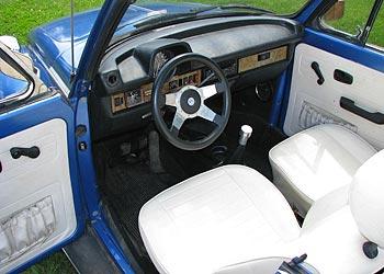 1978 VW Bug Convertible, 1978 VW Bug Convertible Interior